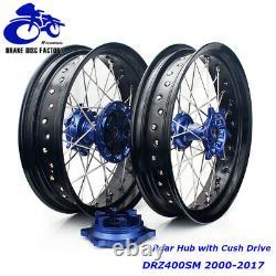 Pour Suzuki Drz400sm Supermoto Roue Rim Hubs Set Drz 400 Sm 2000-2020 Cush Drive