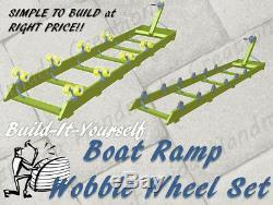 Rampe De Bateau Kit Ket Ski Coureur De Vague Shore Dock Lift Rouleau Roue Set 1200-2000 Lb