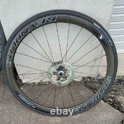 Reynolds Assault Roues Au Carbone 700c 25c Vélos Utilisés Shimano Xtr Sm-rt99