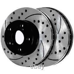 Rotors De Frein À Fente Percés À L'avant Et À L'arrière Et Coussinets Semi-métalliques Kit