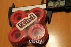 Roues De Skateboard Petites Années 1990 Rouge Original Rare 44mm Ensemble De 4 Roues De Skateboard
