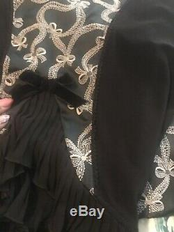 Roues & Dollbaby 2 Pc Moyen / Petit Ensemble! Rare Pin Up Robe À Volants En Satin De Luxe