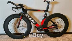 Senti Da1 Tt / Triathlon Vélo Carbone Taille 51 Wheelset Ultegra (petit)