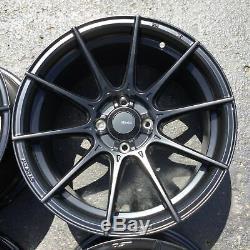 Set 4 16x8 Advanti Racing Tempête S1 Noir 4x100 Roues + 35 MM Jantes