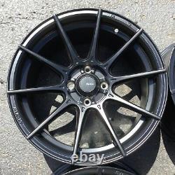 Set 4 16x9 Advanti Racing Storm S1 Black 4x100 Roues +45mm Rims