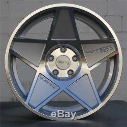 Set (4) 18 18x9.5 5x114.3 Roues Et30 Emortal Honda Toyota Acura Scion Lexus