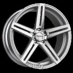 Set (4) 20x10 +42 5x114.3 5x4.5 Drag Dr60 Silver Roues / Jantes 20inch 63051