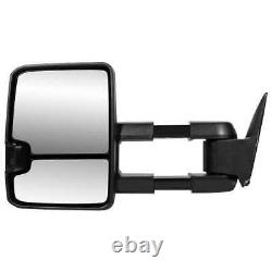 Side View Mirror Tow Power Heated Signal Black Pair 2 Pour Chevrolet Tahoe 5.3l
