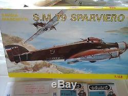 Sm79 Savoia Marchetti 1/48 Smer Modèle + Décalques + 2photoetched + Roue Résine