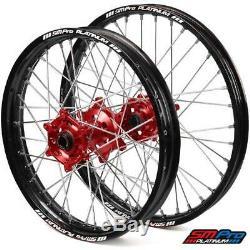 Sm Pro Platinum Motocross Roues Jeu Noir Rouge Suzuki Rmz 250 450