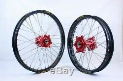 Sm Pro Roue Set 21 + 18 Red / Black Beta Rr & 2t 4t Partir De 2013