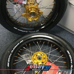 Sm Pro Wheel Set Suzuki Drz 17 X 17 X 4,25 3,50 Mitas Pneus (chambre À Air)