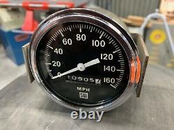 Stewart Warner Mechanical Speedometer Gauge 3-3/8 160mph Vintage