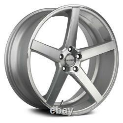 Strada Perfetto Wheels 24x9 (15, 5x114.3, 72.6) Silver Rims Set Of 4