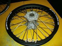 Suzuki Rm 250 Roues Set 2001 À 2008 Jantes Sm Pro Entièrement Remises À Neuf