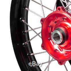 Talon Nouveau MX Yamaha Wr250f Wr450f Noir Rouge Sm Pro Platinum Dirt Bike Wheel Set