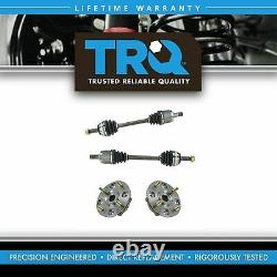 Trq Front CV Axle Shafts & Wheel Hub Bearing Assemblys Ensemble De 4 Pour Acura Honda