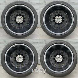 Véritable Mercedes C63s W205 Roues En Alliage De 18 Amg & Pneus Michelin Rare 10,5j+9j