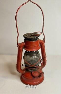 Vieille Roue Ailée No. 350 Lanterne Rouge De Fabrication Japonaise Clear Globe Ensemble Original 2