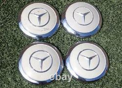 Vintage Mercedes Benz Petit Hubcaps Roue Centre Casquettes Dog Dish Covers Ensemble De 4