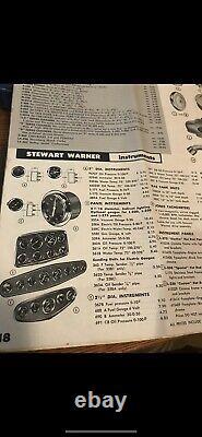 Vintage Style Stewart Warner Straight 8 Dash Tableau De Bord Hotrod Scta
