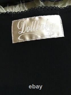 Wheels & Dollbaby 2 Pc Ensemble Moyen/petit! Robe Rare Pin Up Ruffle Satin Luxe