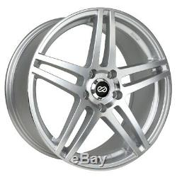 (set Of 4) 17x7.5 +38 Enkei Rsf5 5.105 Argent Roues Usinées